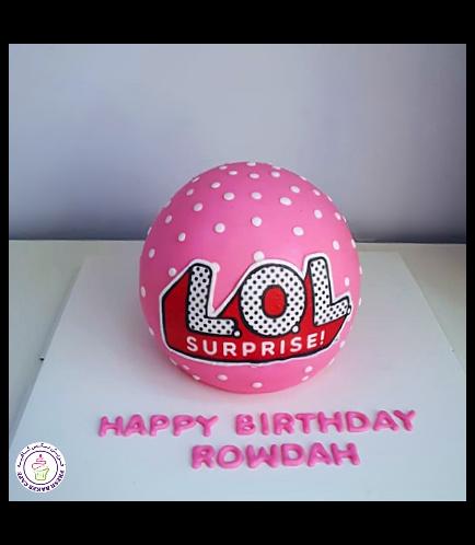 LOL Surprise Doll Themed Cake 02b