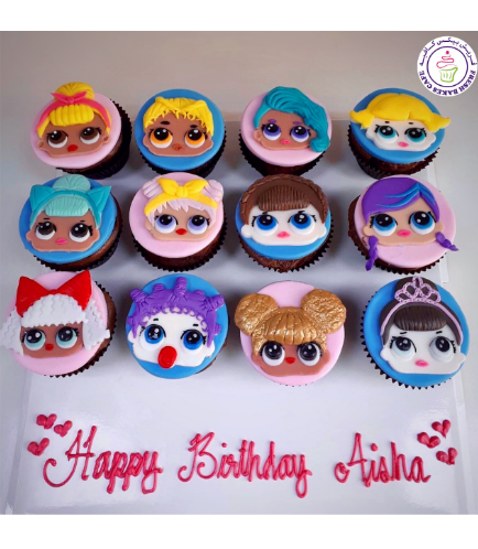 LOL Surprise Doll Themed Cupcakes 04