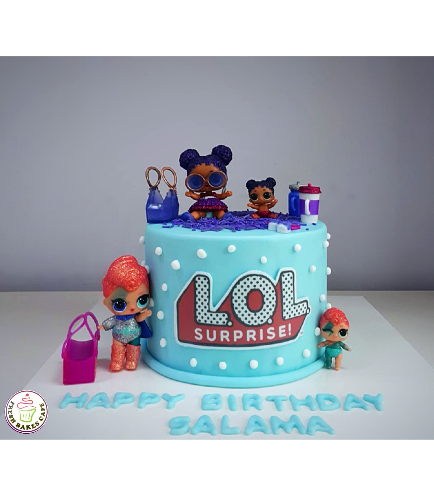 LOL Surprise Doll Themed Cake 01a