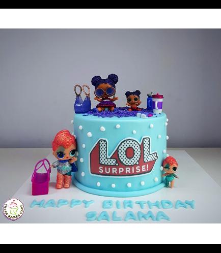 Cake - Toys - 1 Tier 01 - Blue