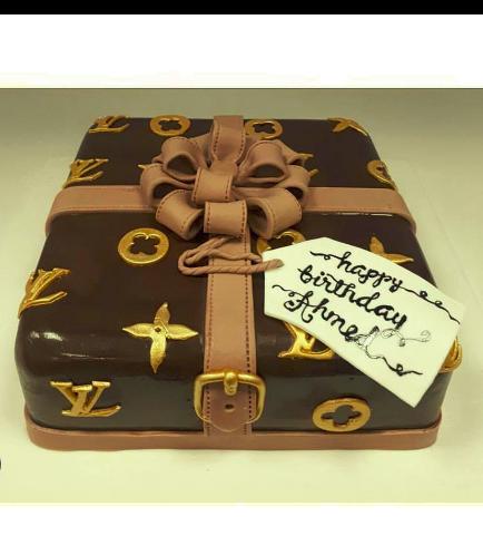 LV Gift Box Themed Cake