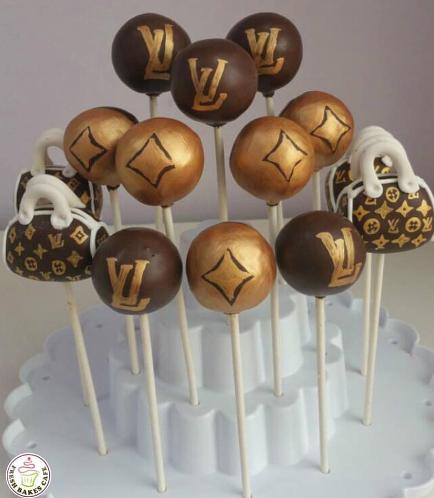 LV Themed Cake Pops
