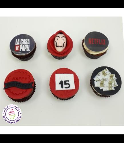 La Casa de Papel Themed Cupcakes