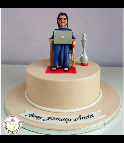 Lady on Cake 05