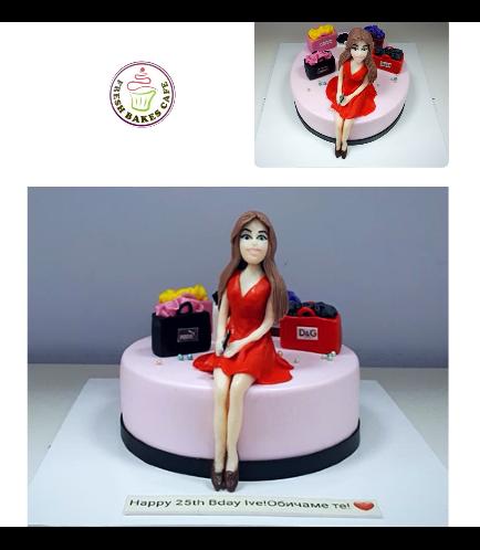 Lady on Cake 07