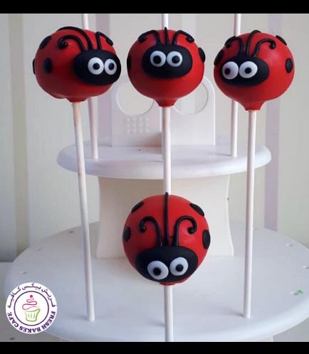 Ladybug Themed Cake Pops