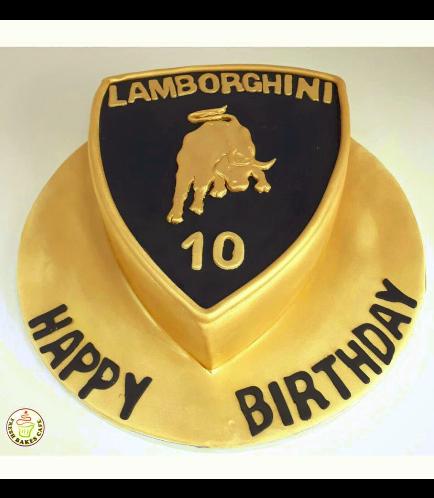 Lamborghini Logo Themed Cake