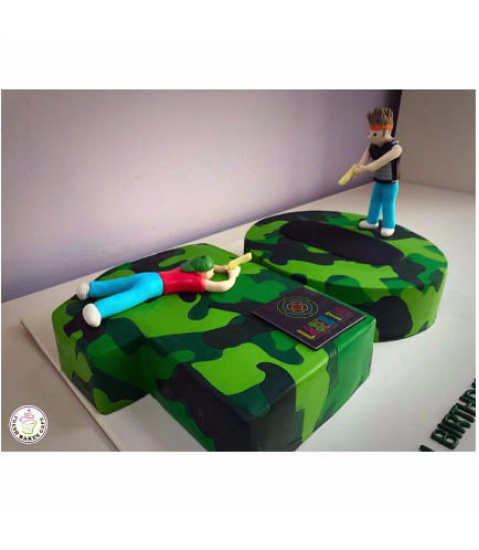 Laser Tag Themed Cake 01b