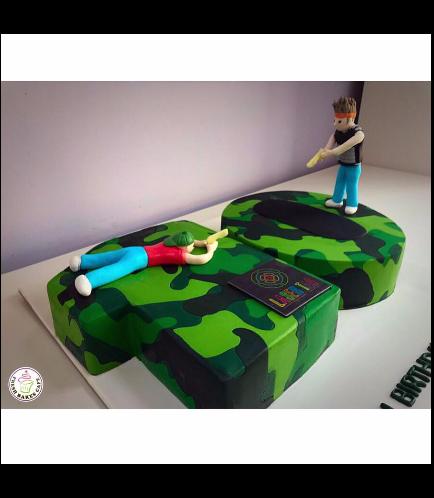 Laser Tag Themed Cake 01b
