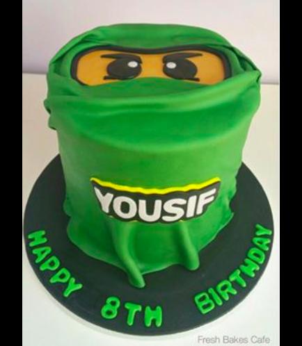 LEGO Ninjago Themed Cake - Character Face - 2D Cake