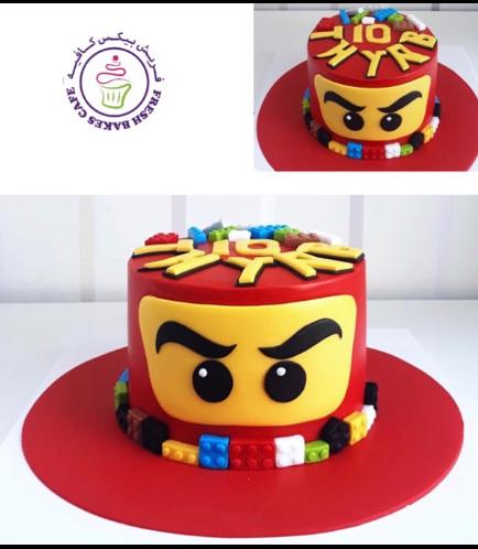 LEGO Ninjago Themed Cake - Character Head - 3D Cake 03