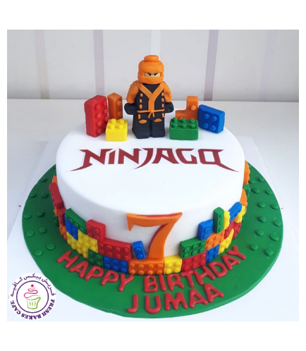 LEGO Ninjago Themed Cake - 3D Cake Toppers - 1 Tier 03