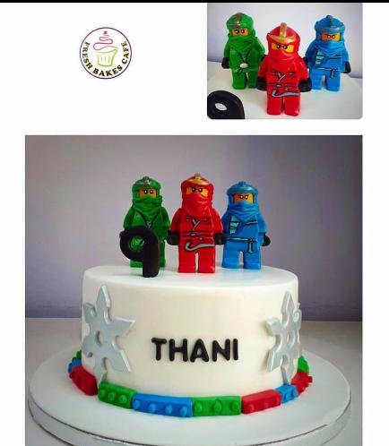 Lego Ninjago Themed Cake 04