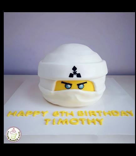 LEGO Ninjago Themed Cake - Character Head - 3D Cake 01