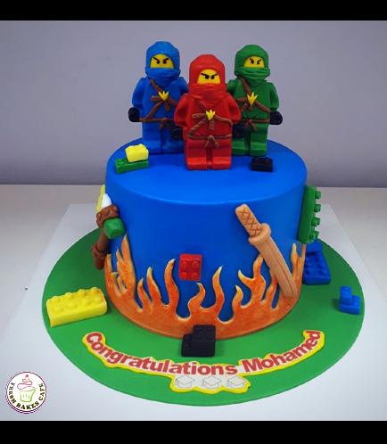 Lego Ninjago Themed Cake 08
