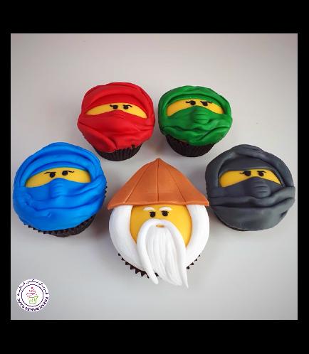 Lego Ninjago Themed Cupcakes 03