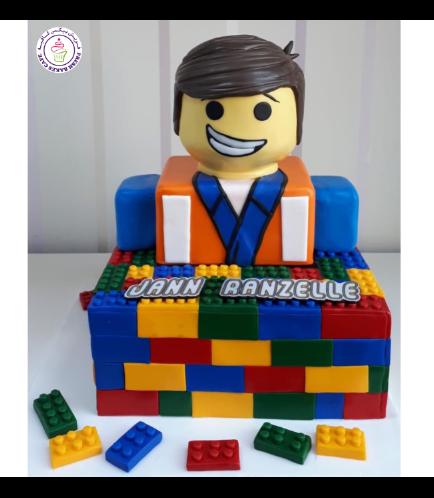 LEGO Bricks Themed Cake - LEGO Character - 3D Cake