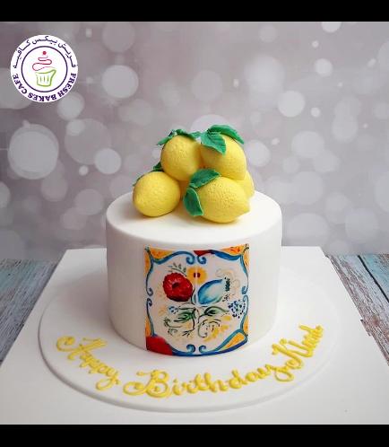 Lemon Themed Cake - 2D Cake Toppers 02