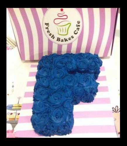Letter F Cake