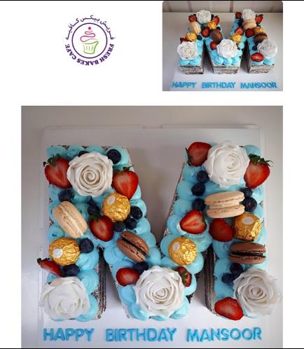 Letter M Cake 04