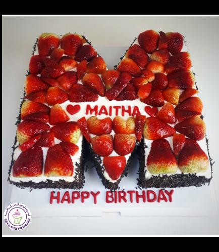 Letter M Cake 05