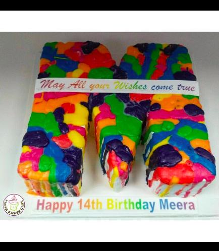 Letter M Cake 01