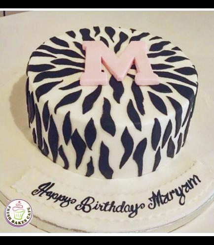Zebra Stripes Themed Cake 01