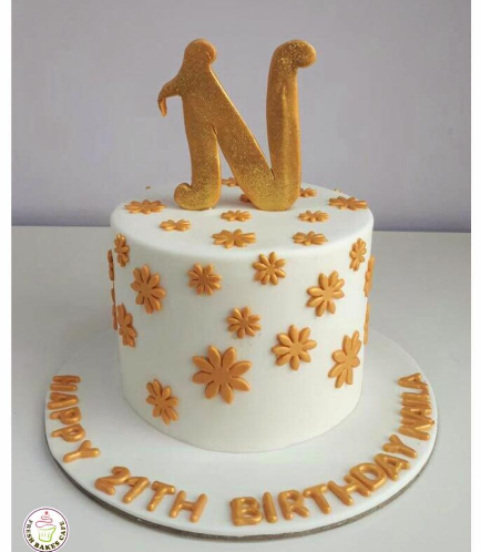 Cake with Letter N