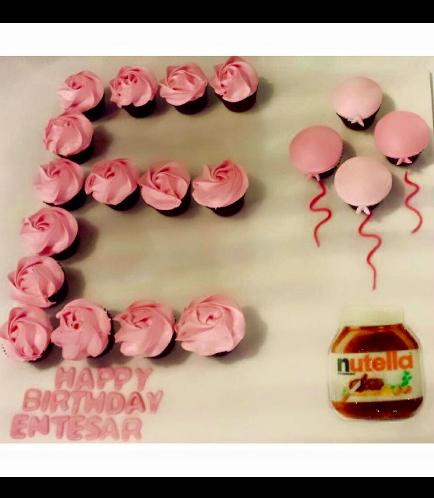 Letter E Cupcakes