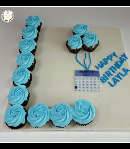 Letter L Cupcakes