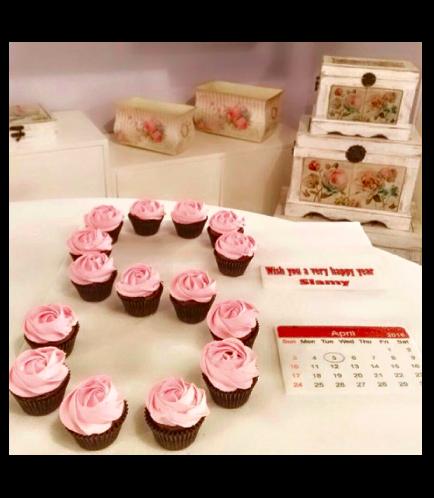 Letter Themed Cupcakes - Calendar