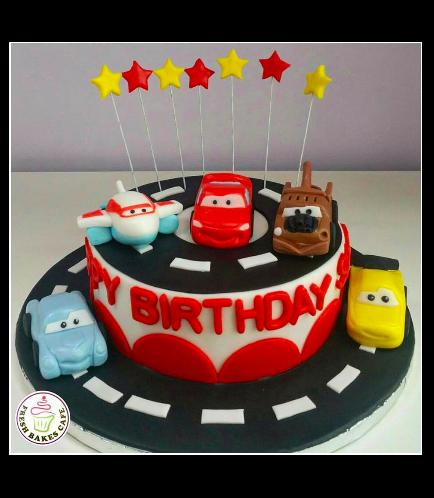 Disney Cars Themed Cake 01