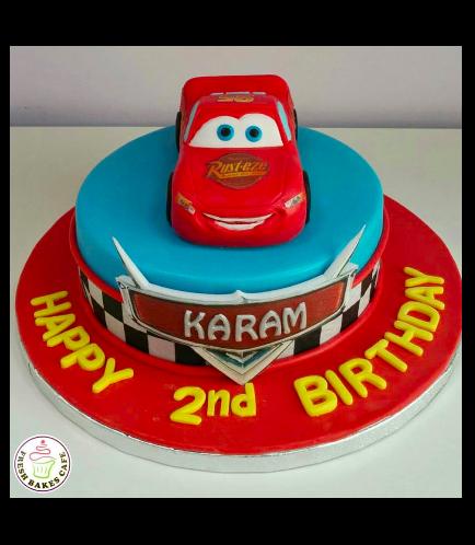 Lightning McQueen Themed Cake 10a
