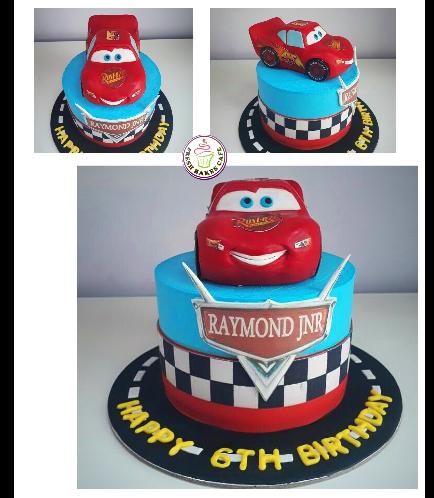 Disney Pixar Cars - Lightning McQueen Themed Cake 05b