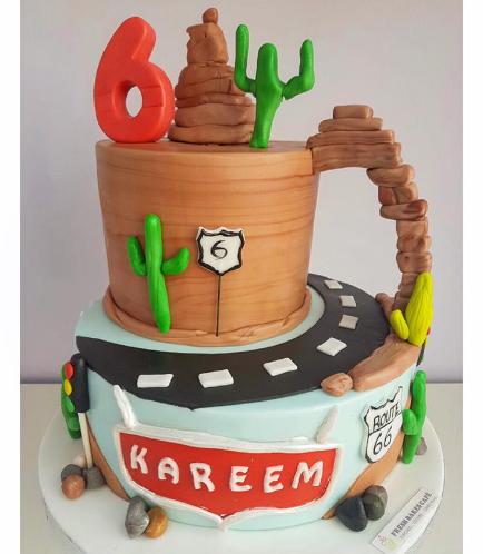 Lightning McQueen Themed Cake 12