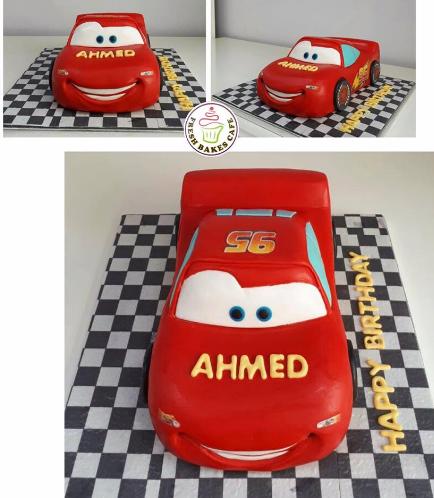 Disney Pixar Cars - Lightning McQueen Themed Cake 07