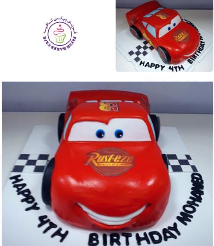 Lightning McQueen Themed Cake 13b