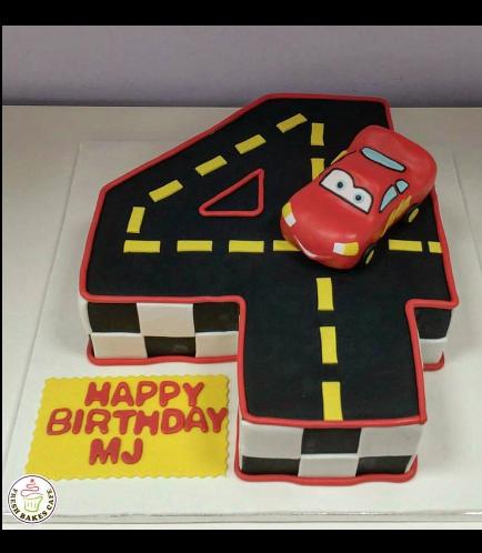 Disney Pixar Cars - Lightning McQueen Themed Cake 09
