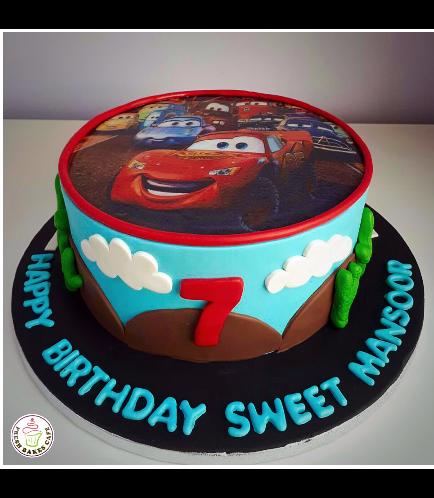 Lightning McQueen Themed Cake 16