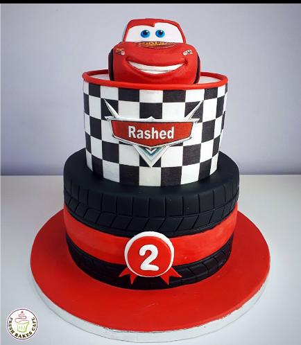 Disney Pixar Cars - Lightning McQueen Themed Cake 10a
