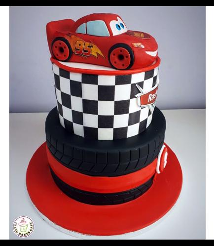 Disney Pixar Cars - Lightning McQueen Themed Cake 10b