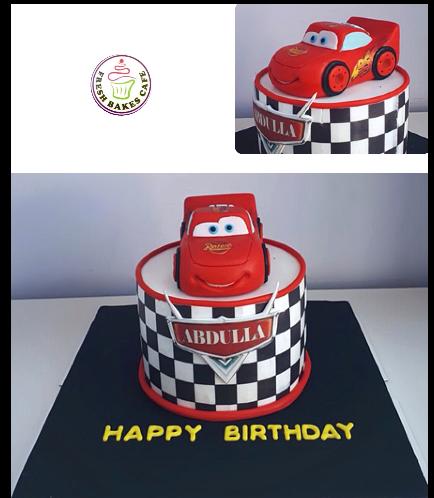 Disney Pixar Cars - Lightning McQueen Themed Cake 11
