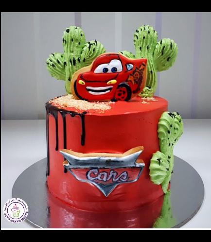 Disney Pixar Cars - Lightning McQueen Themed Cake 12