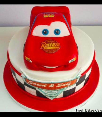 Disney Pixar Cars - Lightning McQueen Themed Cake 04a