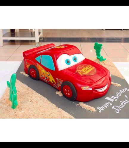 Disney Pixar Cars - Lightning McQueen Themed Cake 02