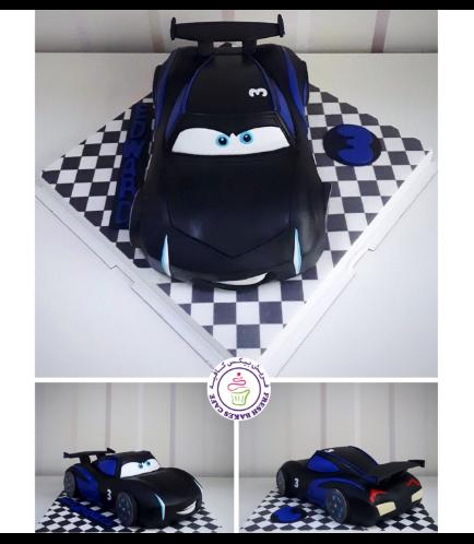 Disney Pixar Cars Themed Cake - Jackson Storm Themed Cake