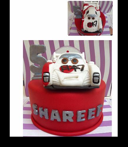 Lightning McQueen Themed Cake-Japanese Car