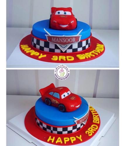 Disney Pixar Cars - Lightning McQueen Themed Cake 05a