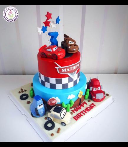 Lightning McQueen Themed Cake 21c
