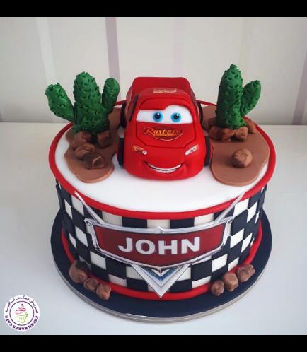 Disney Pixar Cars - Lightning McQueen Themed Cake 13